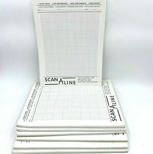 Scan A Line Graph Paper Pads Lot 7 Harris Instrument Corp Columbus OH 8.5x11 OF