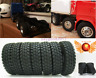 4pc 1:14 RC Tamiya Tractor Short Course Truck Car Climbing Rubber Tyre Tires