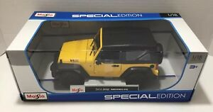 2014 Jeep WRANGLER 1:18 MAISTO DIECAST MODEL - CLASSIC WILLYS STYLE!!