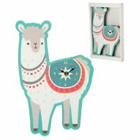 Funky Fun Novelty Llamapalooza Llama Shaped Animal Picture Clock Wall Hanging