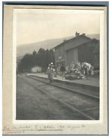 Algérie, Vers Constantine ( قسنطينة), La Gare de Mansourah  Vintage silver print