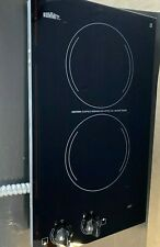 """New listing Summit Cr2220 12"""" Smoothtop Electric Cooktop 2 Burners Black 230 Volt Built In"""