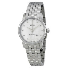 Mido Baroncelli Automatic Mother of Pearl Dial Stainless Steel Ladies Watch-AU