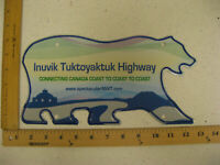 Northwest Territories Polar Bear License Plate INUVIK TUKTOYAKTUK HIGHWAY NWT