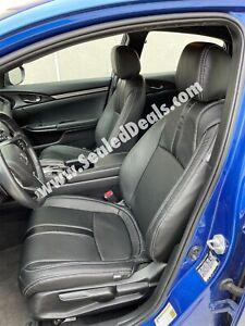 2016-21 Honda Civic Sedan EX LX Sport Black Factory Style Leather Seat Covers