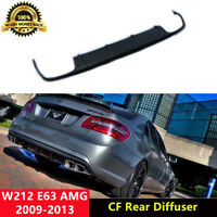 W212 E63 Rear Diffuser Spoiler Carbon Fiber for Mercedes Benz E63 AMG 2009-2013