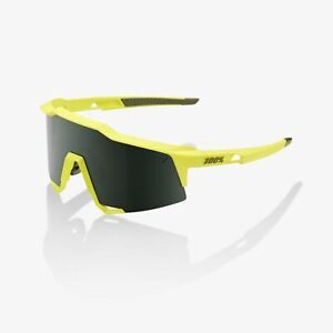 100% Speedcraft Bike Sunglasses Glasses Soft Tact Banana Grey Green Lens