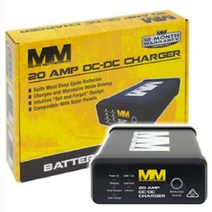 Mean Mother DC to DC 20 Amp Charger with Solar Input For Dual Batteries Caravan