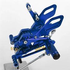 Blue CNC Adjusting Rearset Footpegs Rear Set For Kawasaki Ninja ZX10R 2004-2005