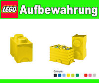 Scatola Box Conservazione LEGO 2 Mattoncino Giallo XL Duplo