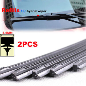 """Pair Refills 14"""" 16"""" 18"""" 20"""" 22"""" 24"""" 26"""" For Front Windshield Hybrid Wiper Blade"""