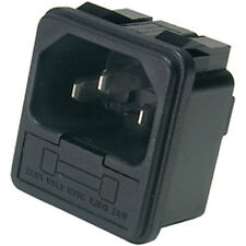 IEC AC Power Jack Chassis Mount with 10A Fuse Holder