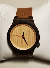 Brown Leather Bracelet Copious Wood Watch