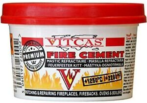 Vitcas Fire Cement 500g Tub Patching And Repairing Fire Places *FREEPOST*