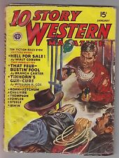 10 Story Western Jan 1946 Pulp Walt Coburn Gunnison Steele William R. Cox T Roan