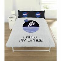 NASA I NEED MY SPACE DOUBLE DUVET COVER  AND PILLOWCASE SET