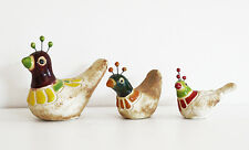 Colombian Ceramic Birds [Set x 3] Home Decor