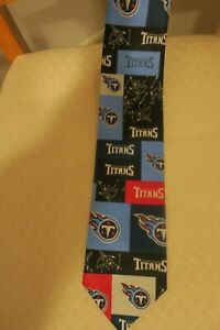Tennessee Titans Block and Play #251386 TM/2003 Ralph Martin Men's NFL Neck Tie