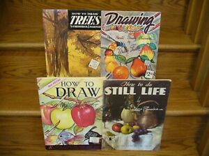 Lot of 4 Walter Foster How To Draw Trees Still Life Simplified Animals Books