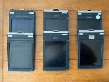 (6) 4x5 Sheet Film Holders Lisco, Fidelity and Graflex
