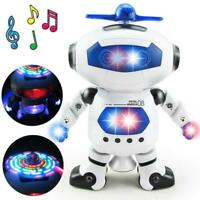 Smart Space Dancing Robot Electronic Walking Toy With Music Light For Kids