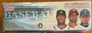 2011 Topps Baseball Complete SetFactory Sealed +Variation Pack Series 1&2 MINT