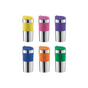Bodum Stainless Steel Travel Mug, 0.35L Assorted Colours