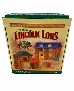 Lincoln Logs Shady Pine Homestead Building Set 00877 120 pc Complete