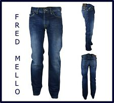 jeans uomo pantaloni denim gamba dritta dritti svasati fondo largo bootcut 44 30