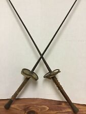 "VERY OLD ANTIQUE  ""RARE"" FRENCH FENCING SWORDS PAIR"