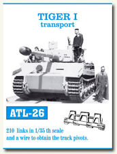 Friulmodel Metal Tracks for 1/35 German Tiger I Transport (210 links) ATL-26