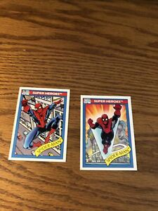 1990 marvel cards #30 And 29-2 Cards Spiderman
