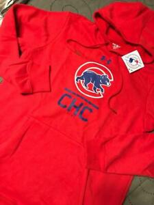 UNDER ARMOUR CHICAGO CUBS BASEBALL COLDGEAR HOODIE SIZE 2XL OR M MEN NWT $70.00