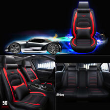 Universl 5 Seats Car Seat Cover PU Leather Cushion For Toyota CHR Camry Ford BMW