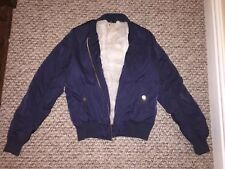 Ladies Size 8 Navy Topshop Fur Lined Jacket Coat Parka Puffer Bomber