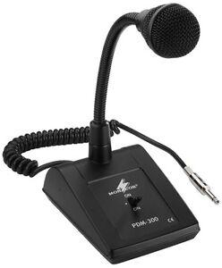 Monacor ELA-Tischmikrofon, 600 Ω mit Schwanenhals, 6,3-mm-Klinke PDM-300