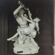 Risque Erotic Statue Nymph Satyr Georges Jacquot France Photo Stereoview E308
