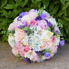 Crystal Roses Bridesmaid Wedding Bouquet Bridal Artificial Silk Flowers Handmade
