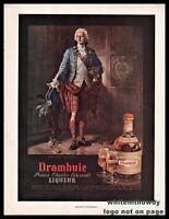 1956 DRAMBUIE Price Charles Edwards' Liqueur Vintage PRINT AD Bar Decor