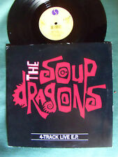 "THE SOUP DRAGONS - 4-track live London 1988 EP  25 cm 10"" UK issue SIRE W7820TE"