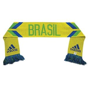 Brazil National Team Soccer Scarf by Adidas NWT Brasil Samba World Cup Futbol