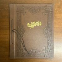 Vintage Scrapbook Rope Leather Blank Pages