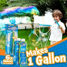 2 Bubble Giant Wand Wands Bubbles Kids Big with 2 CONCENTRATED Bubble Refill