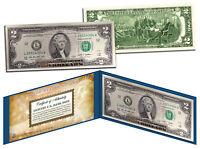 Declaration of Independence Gold Leaf Genuine Legal Tender US $2 Bill Currency