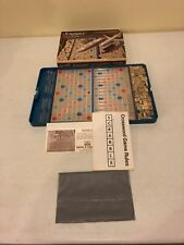 Vintage Selchow & Righter Travel Edition Scrabble Crossword Game Complete 70s