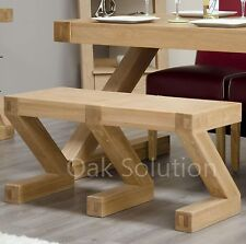 Z solid oak dining room furniture small seating bench