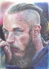 Ragnar Lothbrok Vikings ART PENCIL DRAWING A4