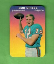 1970 TOPPS FOOTBALL SUPER GLOSSY #28 BOB GRIESE HALL OF FAME MIAMI DOLPHINS