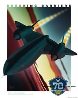 8x10 SR-71 Poster PHOTO US Air Force SR-71 Blackbird Jet Spy Plane 1960s