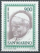 1982 SAN MARINO VISITA PAPA GIOVANNI PAOLO II MNH ** - ED